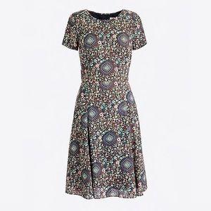 J Crew paisley print flutter dress NWT